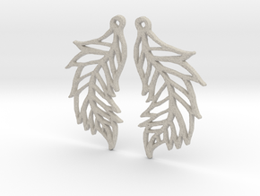:Featherflight: Earrings in Natural Sandstone