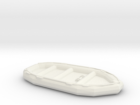 1/48 Scale 10 Person Inflatable Landing Boat in White Natural Versatile Plastic