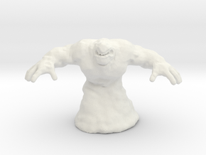 Mud Titan 55mm monster miniature fantasy games rpg in White Natural Versatile Plastic