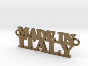 Made in ITALY Pendant in Polished Bronze