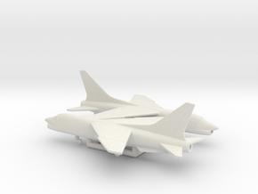 Vought F-8 Crusader in White Natural Versatile Plastic: 6mm
