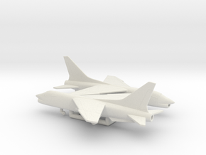 Vought F-8 Crusader in White Natural Versatile Plastic: 6mm