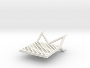 N1 Lattice Fin 1:96 in White Natural Versatile Plastic