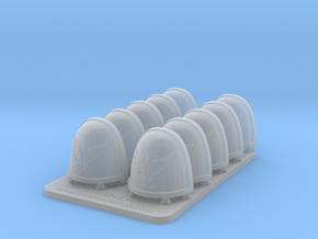 Bran Del Sangre V7 Rimmed ShoulderPads in Smooth Fine Detail Plastic
