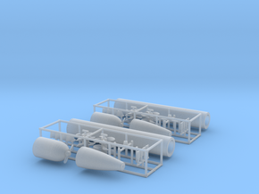 1/72 DKM G7 torpedo (21 in) KIT x2 in Smooth Fine Detail Plastic