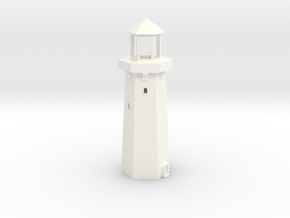 1/350th scale Lighthouse in White Processed Versatile Plastic