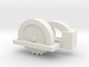 1:12 Scale Circular Saw in White Natural Versatile Plastic: 1:10