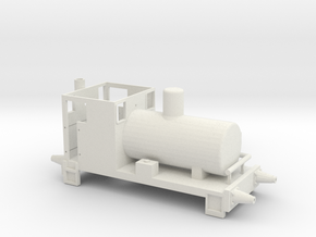 Andrew Barclay Fireless Locomotive in White Natural Versatile Plastic