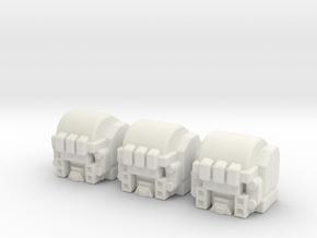 RiD Grimlock Head for Siege Brunt in White Natural Versatile Plastic: Large