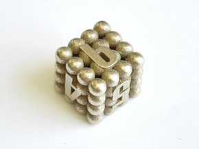 D6 Balanced - Balls in Polished Bronzed-Silver Steel