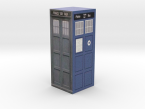 Closed Tardis Model 3 Part 2 in Full Color Sandstone