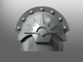 Honoris pattern shoulder pads: Wardens of Light in Smooth Fine Detail Plastic: Small