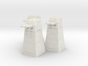 Turbolaser Turret  1/270 3 pack in White Natural Versatile Plastic