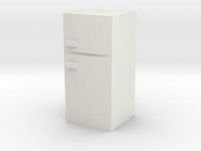 Fridge 1/48 in White Natural Versatile Plastic