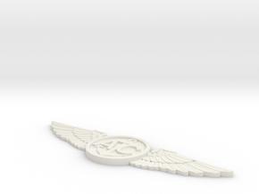 U.S. Navy Aircrew Wings in White Natural Versatile Plastic: Medium