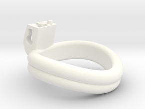 Cherry Keeper Ring - 47mm Double in White Processed Versatile Plastic