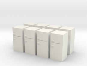Fridge (x8) 1/200 in White Natural Versatile Plastic