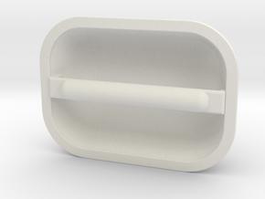 Ec135 Fenestron Handle 1/4 in White Natural Versatile Plastic
