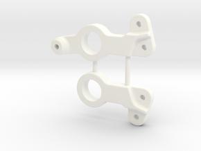NIX62524 Steering HD bellcranks for RC10 in White Processed Versatile Plastic