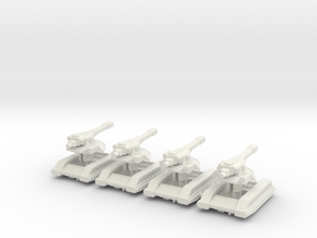 WS Self Propelled Artillery x4 in White Natural Versatile Plastic