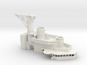 1/96 USS St. Paul Enclosed Bridges part 3 of 3 in White Natural Versatile Plastic