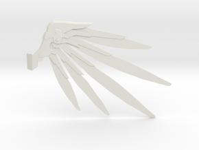 Techno Wings  in White Natural Versatile Plastic