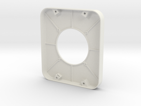 Front Panel for Speaker Enclosure in White Natural Versatile Plastic