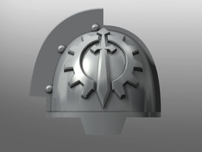 Grievous ptrn Shoulder Pads: Iron Lions in Smooth Fine Detail Plastic: Small