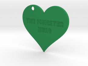 ♥ The Monster Hero Pendant in Green Processed Versatile Plastic
