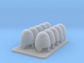 Bran Del Sangre V10 Smooth Primus Shoulder Pads in Smooth Fine Detail Plastic