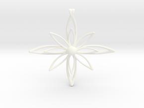 PETALIS Flower Petals design pendant in White Processed Versatile Plastic
