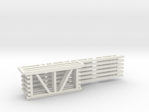 36X72 & 144 Beam Kit 1-87 HO Scale in White Natural Versatile Plastic