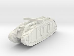 Mark IX Tank 1/144 in White Natural Versatile Plastic