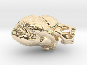 Anatomical Heart in 14K Yellow Gold