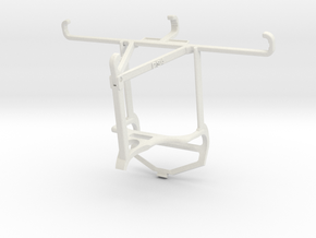 Controller mount for PS4 & Honor Play 3e - Top in White Natural Versatile Plastic