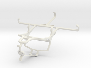 Controller mount for PS4 & Honor Play 3e - Front in White Natural Versatile Plastic