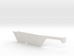 Left Body Panel (Type-T) for Micro Shark in White Natural Versatile Plastic