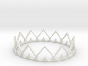 Heart Crown in White Natural Versatile Plastic