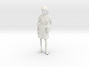 1/12 Spectator Lady in White Natural Versatile Plastic