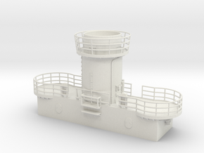 1/72 Bismarck Aft Searchlight Platform in White Natural Versatile Plastic