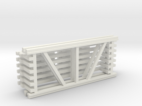 42X96 & 108 Beam Kit 1-87 HO Scale in White Natural Versatile Plastic