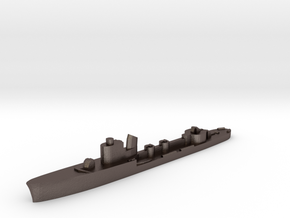Italian Clio torpedo boat 1:1800 WW2 in Polished Bronzed-Silver Steel