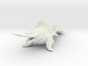 Earth Titan kaiju monster miniature games rpg in White Natural Versatile Plastic