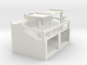 1/50th Speed Loader Bucket for Excavator in White Natural Versatile Plastic