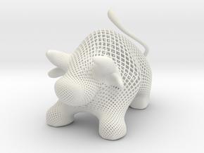 BULL- diagonal  in White Natural Versatile Plastic