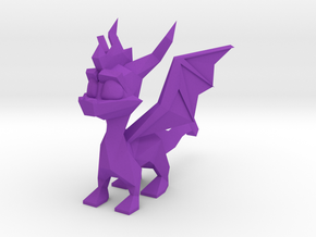 Spyro Low Poly 6cm Wings B in Purple Processed Versatile Plastic