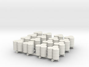 Oil Drums x16 in White Natural Versatile Plastic