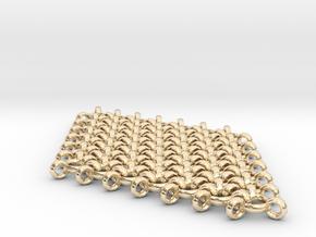 Interlinked Wave Single Pendant Earring in 14k Gold Plated Brass