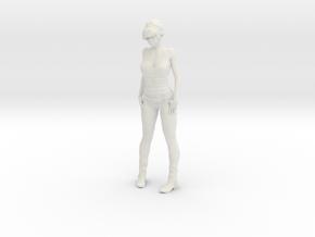Julia Pinup Girl Sexy Model Figure for Diorama in White Natural Versatile Plastic