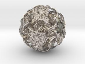 Quin Ornament in Rhodium Plated Brass